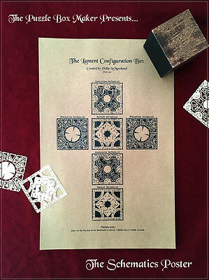 Hellraiser Puzzle Box Schematics - Lithograph Print - UV Protection - Archival