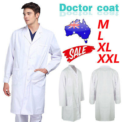 White Lab Coat Hygiene Food Industry warehouse Doctors Laboratory Medical Coat