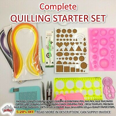 Paper Quilling Kit Complete Gift Set Strip Supplies DIY Quilling Craft Tools