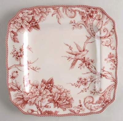 222 Fifth ADELAIDE MAROON Square Dinner Plate 10383730