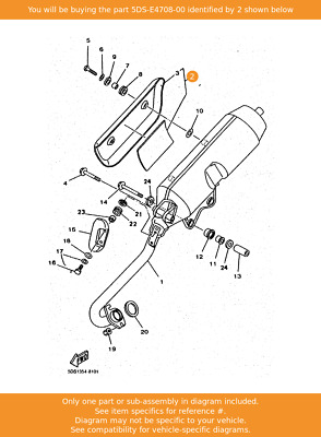 YAMAHA Protector Assy, 5DS-E4708-00 Fowlers Parts OEM