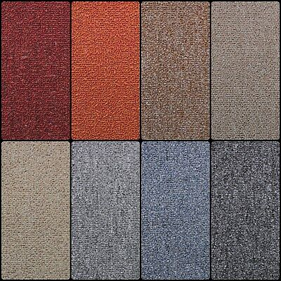 Rubin Loop Pile Carpet Felt Backing Flecked Hard Wearing Lounge Bedroom Stairs