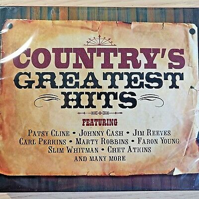 2CD NEW - COUNTRY GREATEST HITS Pop Music 2x CD Album  Cash Cline Reeves Perkins