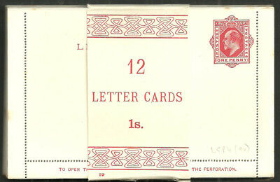 1D Edward Vii Post Cards Lcp4 Unused Pack Of 12 With Wrapper Band