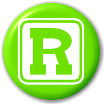 Block Letter R – 25 Mm Pin Button Badge