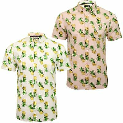 Mens Brave Soul 'Tupi' Hawaiian Pineapple Print Shirt