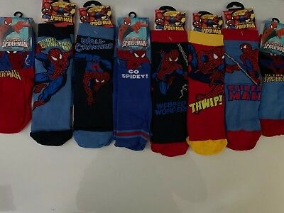 Spiderman Character Kids Socks