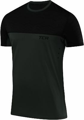 Orange Tca Hazard Mens Short Sleeve Training Top Activewear Tops Shirts