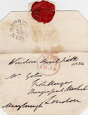 LORD MARYBOROUGH, 3rd EARL OF MORNINGTON **SIGNED FREE FRONT: WAX SEAL (1834)