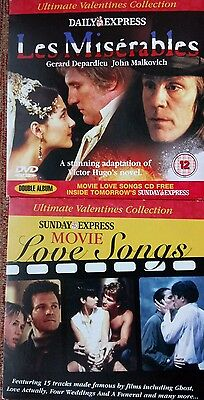 Les Miserables Dvd/movie Love Songs Cd ~ Express Promos
