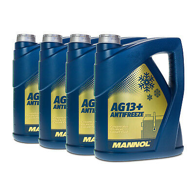 20 (4x5) Liter MANNOL Antifreeze AG13+ Advanced Frostschutz Konzentrat