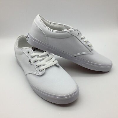3933601964 VANS ATWOOD PERF Leather White Lace Up Sneakers Fashion Adult Men ...