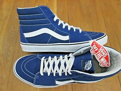 74cdfd3243 Vans Mens Sk8-Hi Estate Blue True White Canvas Suede Skate Shoes Size 13 NWT