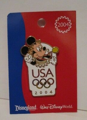 Walt Disney World Disneyland Mickey Mouse 2004 Olympics Trading Lapel Pin