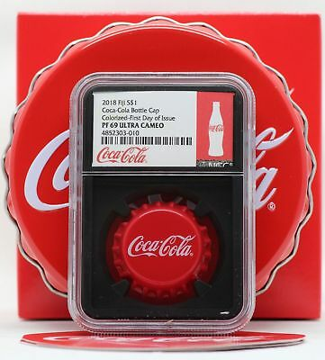 2018 Fiji Coca-Cola Coke Bottle Cap 6g Silver NGC PF69 FDI Blackcore Coin JY928