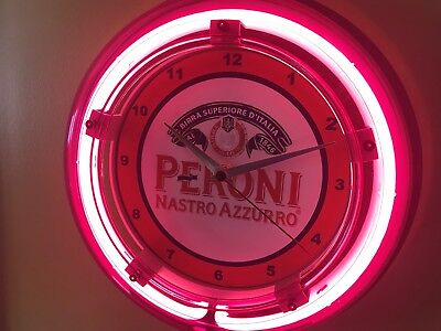 Proni Italian Beer Bar Advertising Man Cave Neon Wall Clock Sign