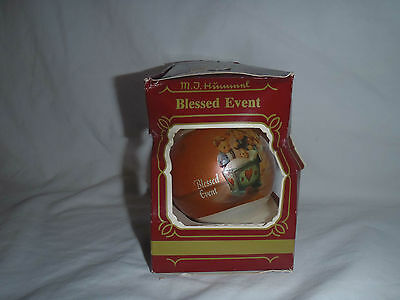"Goebel Glass Ornament - ""Blessed Event"" MJ Hummel"