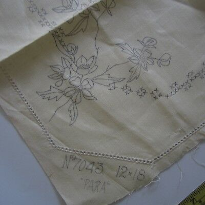 "1 x 12""x18"" #7043 Vintage Irish Linen Doily Stamped Embroidery Project New"