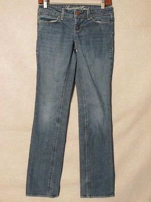 D8509 American Eagle Straight Killer Fade Stretch Jeans Women's 27x30