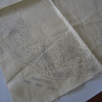 3 piece set #7041 Para Vintage Irish Linen Doily Stamped Embroidery Project New
