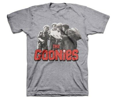 The Goonies Map Quest Mens Heather Grey T-Shirt Tee Sloth Mikey Hey You Guys