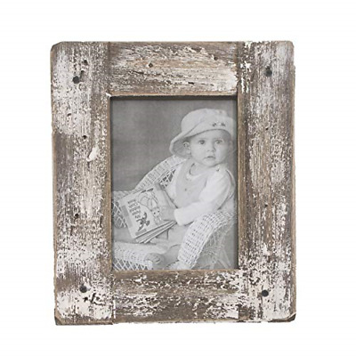 kuip Design 8x10 Picture Frame Rustic Distressed Weathered Reclaimed Wood Cream