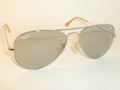 f5817aa599d Ray Ban Aviator EVOLVE Sunglasses Silver Frame RB 3025 9065 I5  Photochromatic