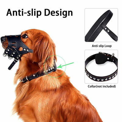 Durable Pet Dog Adjustable Mask Anti Bark Bite Soft Mouth Muzzle Grooming Chew