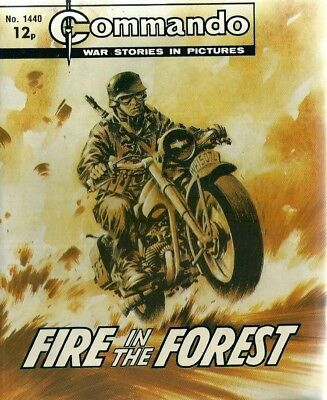 Fire In The Forest,commando War Stories In Pictures,no.1440,war Comic,1980