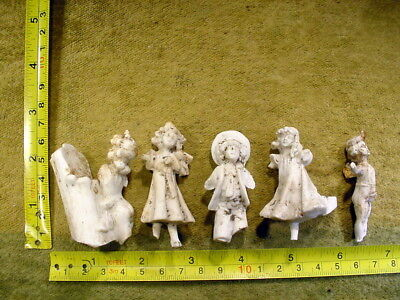 5 x excavated vintage victorian damaged Doll parts age 1860 Germany Art 12344