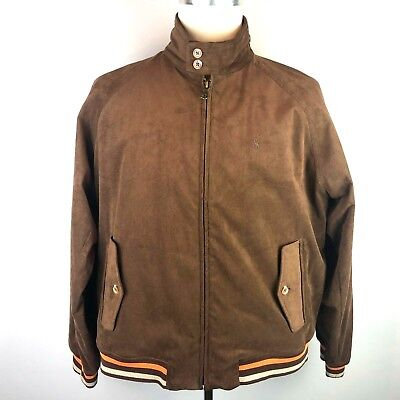Polo Ralph Lauren Brown Suede Leather Harrington Bomber Jacket L Rrp £599  Superb c0992be26653