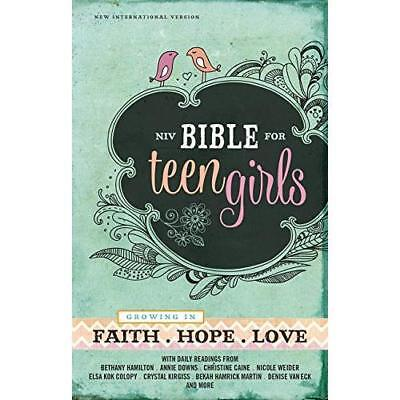 Bible for Teen Girls-NIV: Growing in Faith, Hope, and L - Hardcover NEW Zonderva