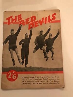 the Red Devil's - Manchester United brochure covering 1956/57 season