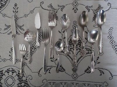 12 Piece assortment  good Silver Plate, Attn. Dealers, Nice pieces--NO JUNK!