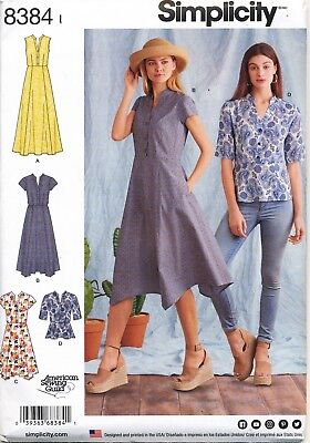 Simplicity Sewing Pattern 8384 Misses Sz 16-24 Dresses, Maxi & Top In Plus Sizes
