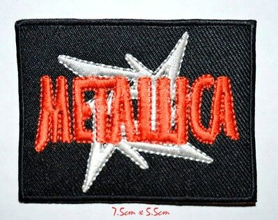 Metallica Red & White Embroidered Iron on/Sew on Patch #671