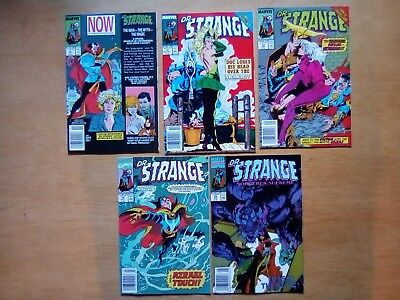 5 ISSUES DOCTOR STRANGE #9,12,13,19,20 MARVEL COMICS 1989/90  ALL FN 1st PRINTS