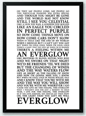 Coldplay Song Lyrics Typography Print Poster Artwork The Scientist Home Art