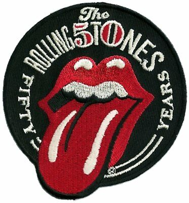 80729283010 ROLLING STONES 50 Years Tongue Sew/Iron on Patch rock music band coat jacket