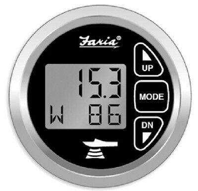 Faria Chesapeake Depth Gauge with Air & Water Temp - Includes Transducer - 13752