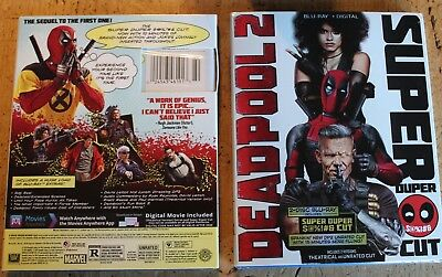 DEADPOOL 2 (Blu-ray+Digital, 2018 2-Disc Super Duper Cut) +Slipcover