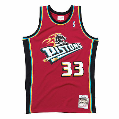 c639f257a8bb5 Detroit Pistons Grant Hill Mitchell   Ness Throwback Swingman Jersey Red L