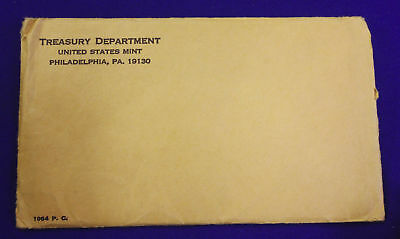 1964 U.S. PROOF SET. The envelope containing the set is sealed/unopened