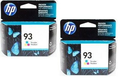 Lot of 2 HP #93 93 Color Ink Cartridges NEW GENUINE