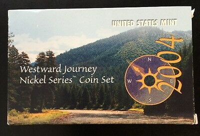 2004 U.S. Mint/Proof Westward Journey Nickel Series Coin Set Complete Box & COA