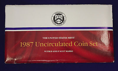 1987 UNCIRCULATED Genuine U.S. MINT SETS ISSUED BY U.S. MINT