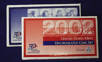 2002 UNCIRCULATED Genuine U.S. MINT SETS ISSUED BY U.S. MINT