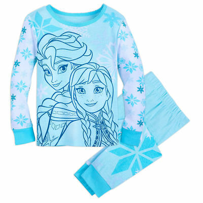 Girls Size 7//8 M Disney Frozen Anna and Elsa Premium Pajama Set