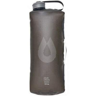HydraPak Seeker 2L Ultra-Light Collapsible Water Container - Mammoth Grey