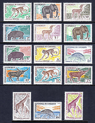 Cameroun — Scott 358-372 — 1962 Wildlife Set — Mh — Scv $21.35